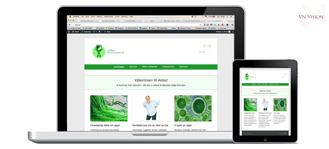 Aidos Webshop design by VN Vision