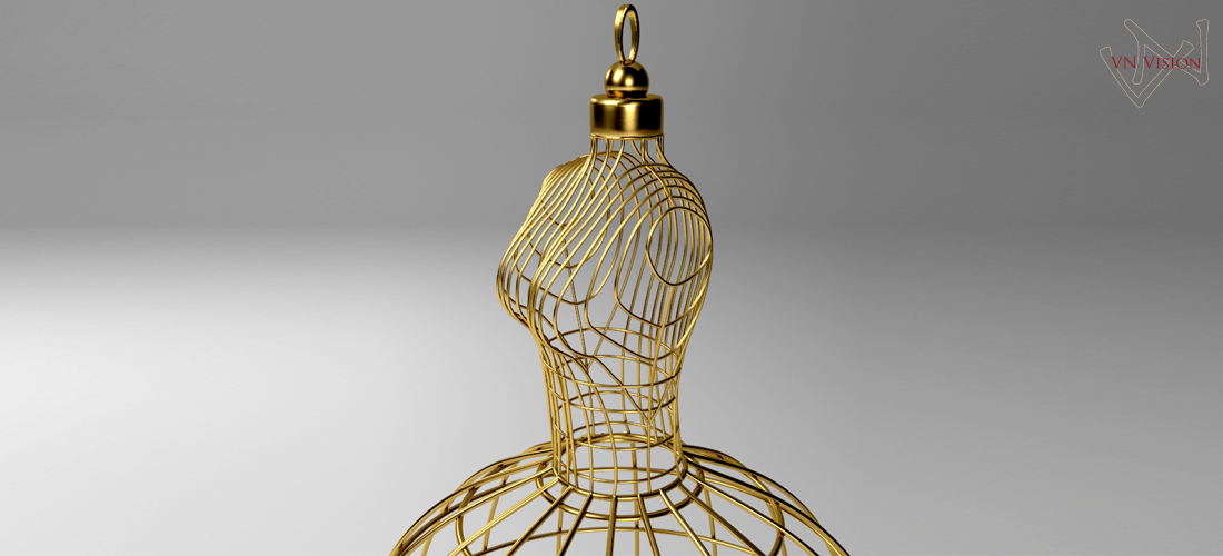 Asztalos Design Lady Lamp 3D visualization VNVision